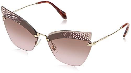 Miu Miu Damen 0MU56TS KI45P1 63 Sonnenbrille, Pink Transparent/Violet Brown