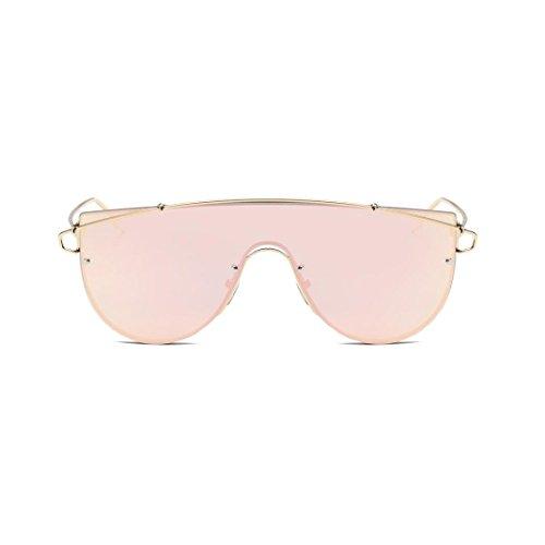 Jaminy Frauen Herren Vintage Retro Brille Unisex Fashion Aviator Spiegel Objektiv Sonnenbrille