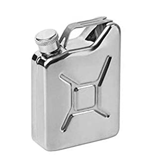 fggfgjg 5 oz Jerrycan Oil Jerry Can Liquor Hip Flask Creative Stainless Steel Wine Potsilver
