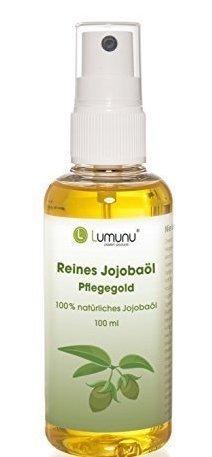 Deluxe reines Jojobaöl (100ml) Lumunu Pflegegold, 100% natürliches Jojobaöl