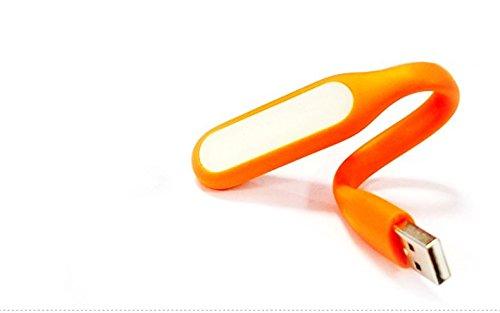 Lámpara LED USB (con cabeza giratoria–luz auxiliar de ideal, plástico, naranja, 168x18x8mm