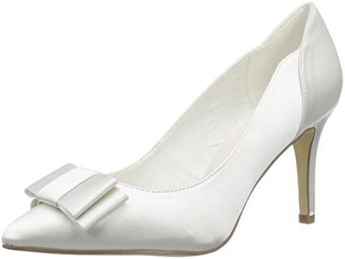 Menbur Wedding Natalia - Zapatos de tacón Cerrados de Raso Mujer
