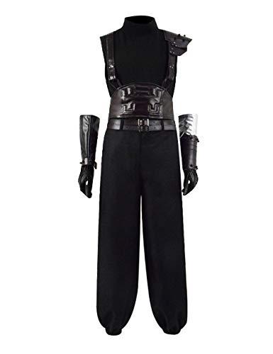 IDEALcos Halloween Cloud Cosplay Kostüm Final Fantasy VII Remake (M, Schwarz) (Cloud-final Fantasy-kostüm)