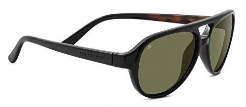 Serengeti Giorgio Aviator Sonnenbrille Schwarz Schildkröte mit 555nm linsen 8181