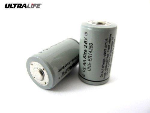 Ultralife ER14250 Litio 3.6V   Pilas (Litio, Cilíndrico,  55   80 °C,  55   80 °C, 1/2AA, Negro, Gris)
