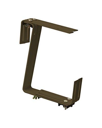 Windhager Blumenkasten-Halter für Brüstungen und Balkongeländer, 2-fach verstellbar, Tragkraft 25 kg, 19 x 17 cm, Braun, 05806
