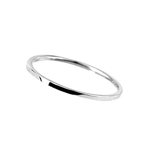 Design semplice 1 millimetro regalo di fidanzamento di natale gioielli liscia sottile anello in acciaio inox uomo donne boy girl mano