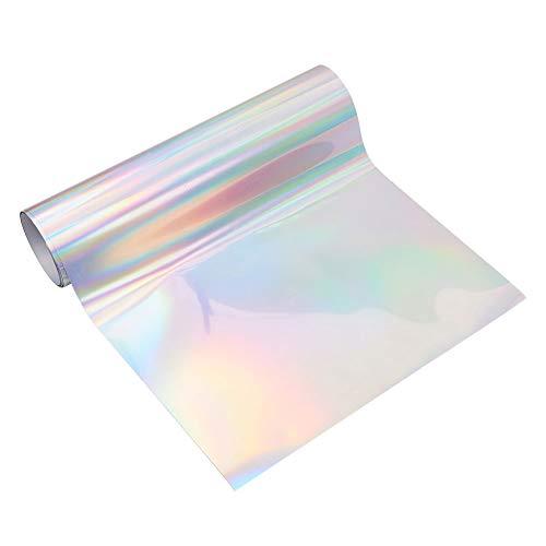 nbeads 1 Rolle Spectral Silver Heat Transfer Vinyl HTV für T-Shirts Iron on Vinyl für Silhouette Cameo und Cricut Bonus Spectral Silver -