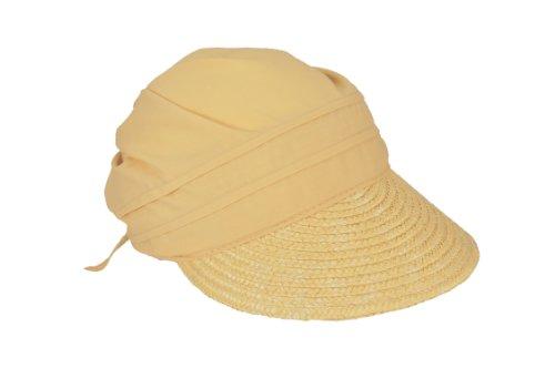 Seeberger Damen Sonnenhut Stroh-/Stoffcap, Einfarbig, Gr. one size , Beige (leinen 93) (Stroh-sonnenhut Frauen)