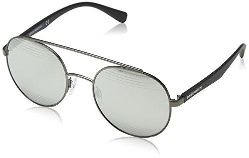 Emporio Armani Herren 0ea2051 Sonnenbrille, Mehrfarbig (Matte Gunmetal), 53