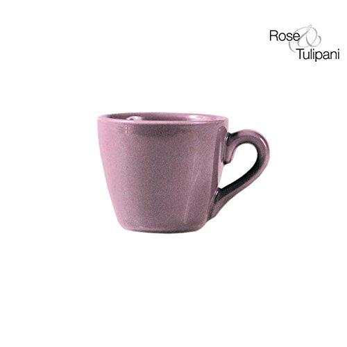 Rose e Tulipani r151200021 Bali Tasse à café avec soucoupe, Lot de 6