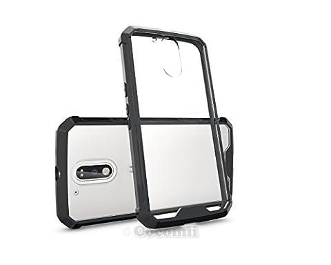 Motorola Moto G4 / G4 Plus Coque, Cocomii Modern Armor NEW [Crystal Clarity] Premium HD Clear Anti-Scratch Shockproof Hard Bumper Shell [Slim Fit] Full Body Ultra Thin Lightweight Transparent Cover Case Étui Housse (Black)