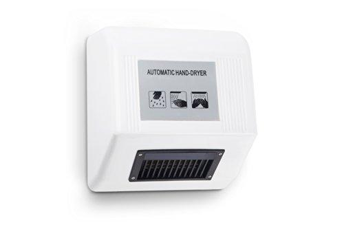 Kenley - asciugamani elettronico automatico a muro ad aria calda - design moderno e sottile salvaspazio – 1800 w