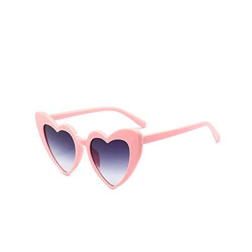Sportbrillen, Angeln Golfbrille,NEW Love Heart Sunglasses Women Cat Eye Vintage Sun Glasses Christmas Gift Heart Shape Party Glasses For Women Driving UV400 Doublegray