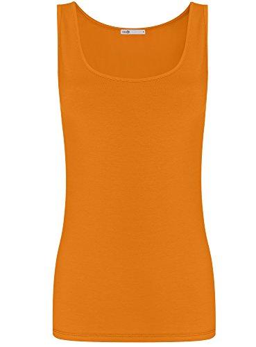 oodji Collection Femme Débardeur Basique Orange (5900N)