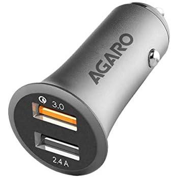 Agaro 5.4A 2 Port Quick Car Charger