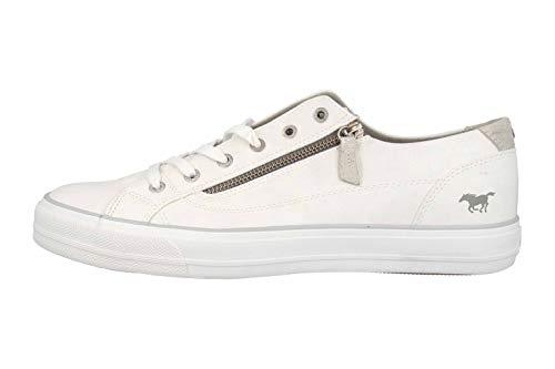 MUSTANG Shoes Sneaker in Übergrößen Weiß 1272-305-1 große Damenschuhe, Größe:45