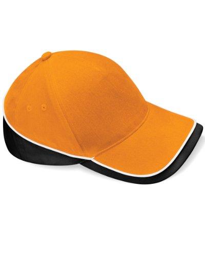 Unisex Teamwear Competition Cap in Kontrastfarben - Farbe: Orange/Black/White - Größe: One Size -