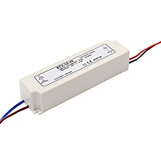 Auforua® 230VAC Input/ DC12V 40Watt 3.3A Output LED Transformer Trafo Waterproof IP67 LED Power Supply Driver Adapter in Plastic Housing for LED Bulb Strip lighting, Led Module and Outdoor DC lightings