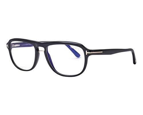 Tom Ford Brille (TF-5538-B 001) Acetate Kunststoff schwarz glänzend