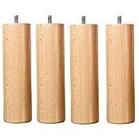 Hévéa Sélection Jeu de 4 pieds bois naturel hauteur 20 cm