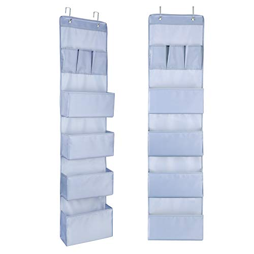 Vou tiger Hängeorganizer 7 Taschen mit 2 Haken, Multifunktionale Hängender über der Tür Organizer, Hängetasche für Kinderzimmer Wohnzimmer Schlafzimmer