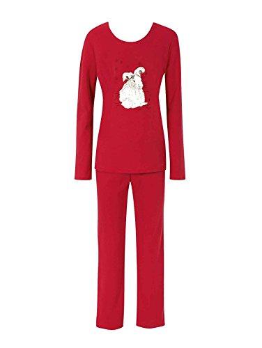 Triumph Snow Leopard Pyjama, Schneeleopard Damen Cherry Red