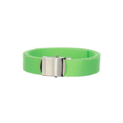 Solid Color Militare Tela CINTURA taglia unica Flash Green Taglia unica