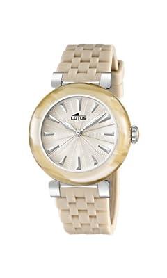 Lotus 15852/2 - Reloj analógico de cuarzo para mujer, correa de goma color beige