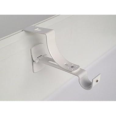 2Träger ohne Bohren Geko für Tingle zu Vorhänge Durchmesser 20mm-Spezial Premiumqualität von Rollladen Nut--Colori: Weiß
