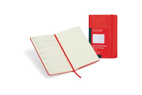 Cheap 2012 Moleskine Red Large Weekly Notebook 12 Month Hard Discount