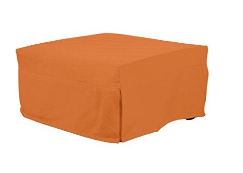 13casa evolution c16 - pouff letto. dim: 80x80x40 h cm. col: arancione. mat: metallo, poliestere.
