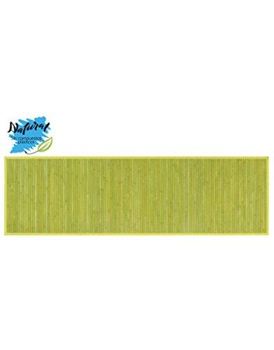Alfombra de Bambú natural de 60x200cm Color VERDE para pasillo - Natural - Hogar y más