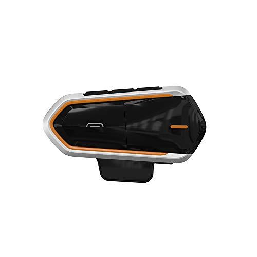 Motorrad Sturzhelm Headset Bluetooth, Motorcycle Intercom Helm Kopfhörer, Wireless Gegensprechanlage, mit Mic, FM Radio, max.1000m, Wasserdicht Freihändige, 15 Std Sprechzeit, für Smart Phones Stereo-intercom-panel