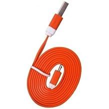 USB FUNNYGSM-Cable de datos y carga para Kazam Thunder Q4,5, color naranja