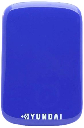 Hyundai HS2 Externe Festplatte (1TB, USB 3.0, SSD, Design Blue Hummingbird), Neon-Blau