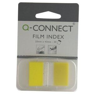Q-Connect KF03634Page Marker 2,5cm 50Blatt gelb