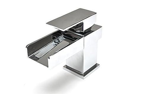 Design Wasserfall Waschbecken Bad Dusche Mixer Wasserhähne Basin Mixer