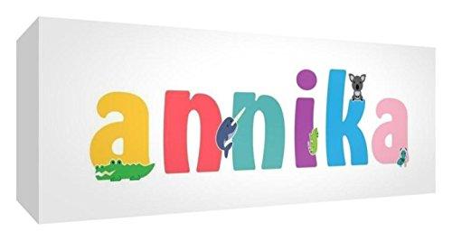 Little Helper ANNIKA2159-15DE Leinwanddruck Personalisiert mit Mädchenname, Annika, 21 x 59 x 4 cm, mittel