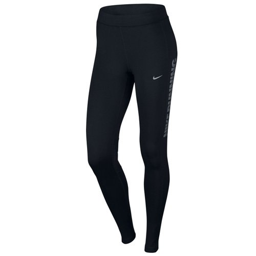 Nike Damen Power Flash Essential Tights, Black, XS (Nike-flash-hosen)
