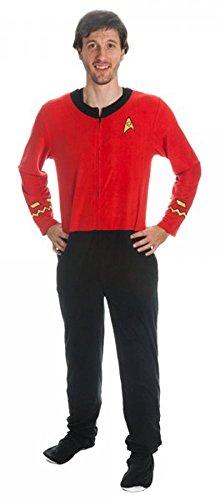 Star Trek Mens Red Union Suit Onesie