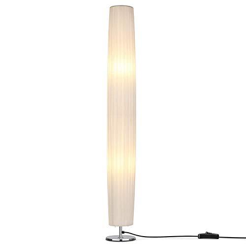Schlafzimmer-zeitgenössische-sofa (SXM777 Moderne minimalistische LED Stehleuchte, 46 Zoll Hohe Minimalistische Moderne Stehlampe mit Stoffschirm, zeitgenössisches Wohnzimmer Sofa Stehlampen für Schlafzimmer, Schlafsaal, Büro)