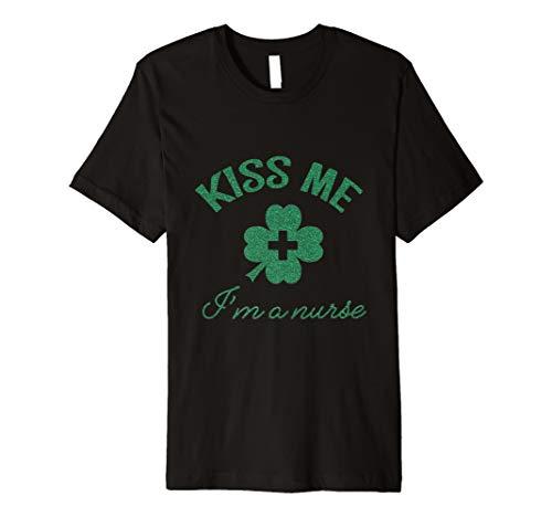 Kiss Me I 'm A Nurse grün glitter St. Patrick Day Kostüm