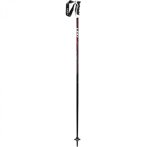 LEKI Alpex Ultimate Skistöcke, Schwarz/Anthrazit/Weiß/Rot, 135 cm