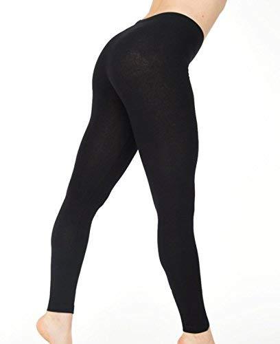 2 x Leggins FOSSAY ultrasuaves, fuertes, para uso cotidiano, Womens Sexy de color negro leggins pantalones mallas, térmicas para invierno - Talla única(FW-809)