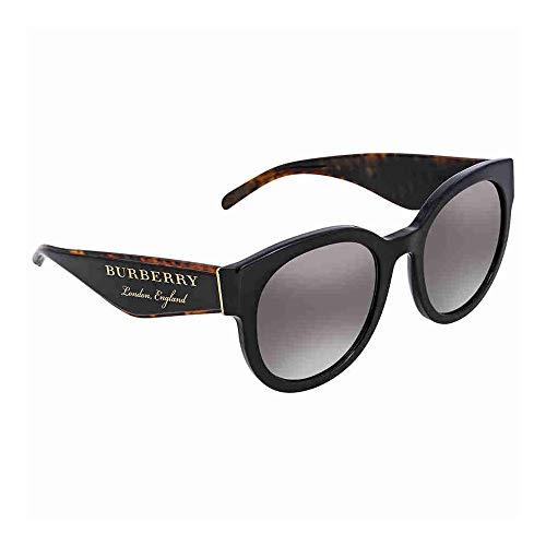 BURBERRY Damen 0BE4260 36836I 54 Sonnenbrille, Schwarz (Black/Gradientgreymirrorsilver),