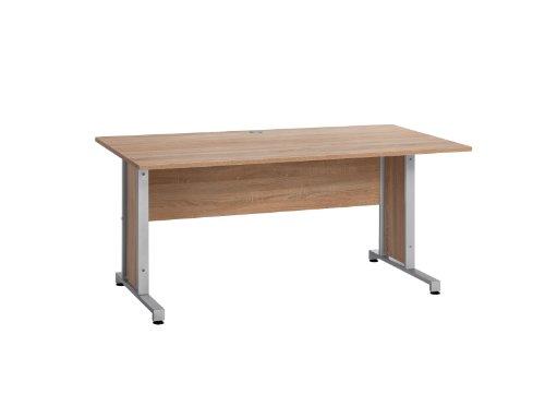 MAJA-Möbel 1221 8825 Schreibtisch, Sonoma-Eiche-Nachbildung, Abmessungen BxHxT: 160 x 75 x 80 cm -