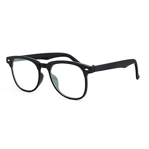 Royal Son UV Protected Wayfarer Sunglasses For Men And Women (WHAT4490|50|Transparent Lens)