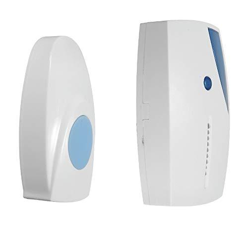 Man9Han1Qxi Batteriebetriebene LED-Anzeige Chime Music Funk-Türklingel-Sender Empfänger Fernbedienung White - Chime Sender