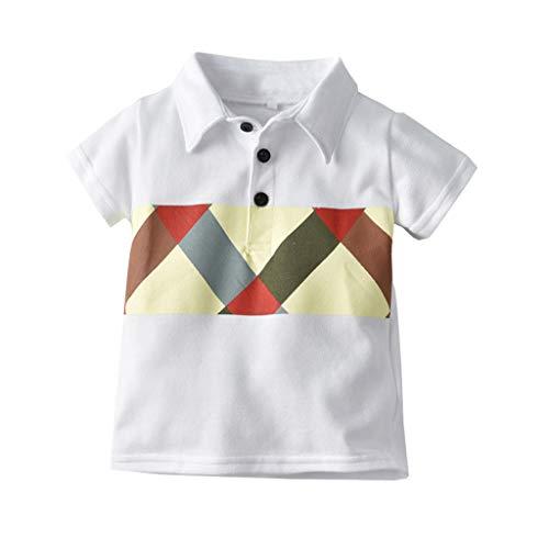Pageantry Shirt Baby Boy Baumwolle Plaid Knopf Unten Hemd Antimikrobiell Atmungsaktiv Kurzarm Polo Revers Drucken Top Freizeit GentlemanT Shirt Jungen Kinder Sommer Kleidung